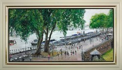 The Thames From the Tower by David Porteous Butler -  sized 39x20 inches. Available from Whitewall Galleries